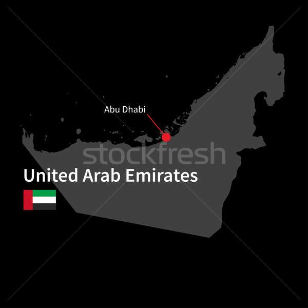 подробный карта Объединенные Арабские Эмираты город Абу-Даби флаг Сток-фото © tkacchuk