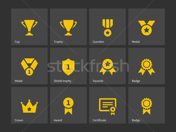 Trofeum ikona star kubek korony Zdjęcia stock © tkacchuk
