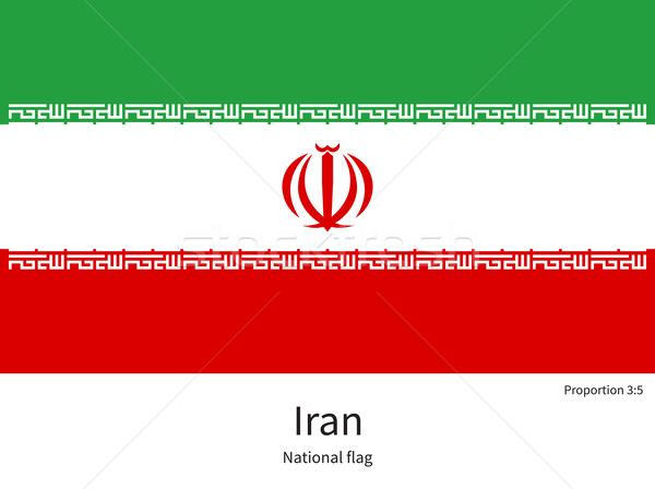 National flag of Iran with correct proportions, element, colors Stock photo © tkacchuk
