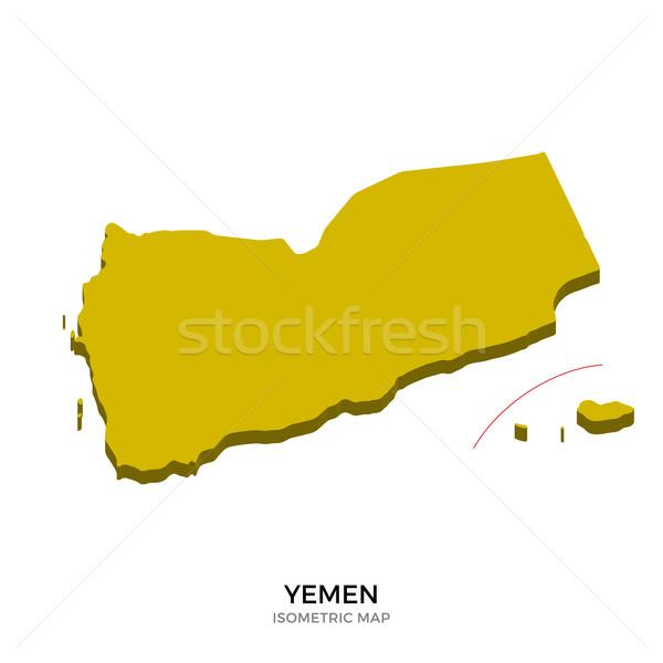 Isometrische kaart Jemen gedetailleerd geïsoleerd 3D Stockfoto © tkacchuk