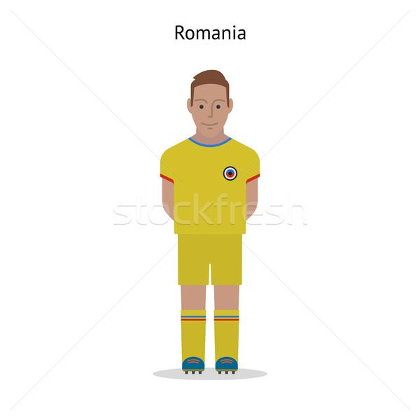 Futebol Romênia jogador de futebol forma esportes Foto stock © tkacchuk