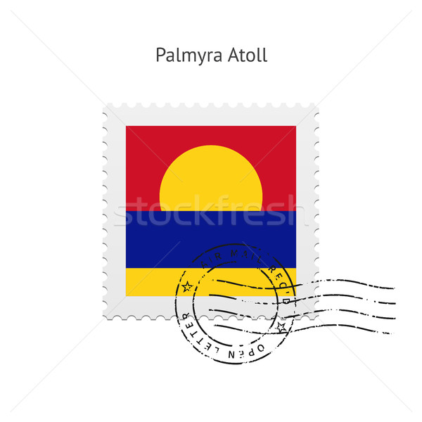 Palmyra Atoll Flag Postage Stamp. Stock photo © tkacchuk