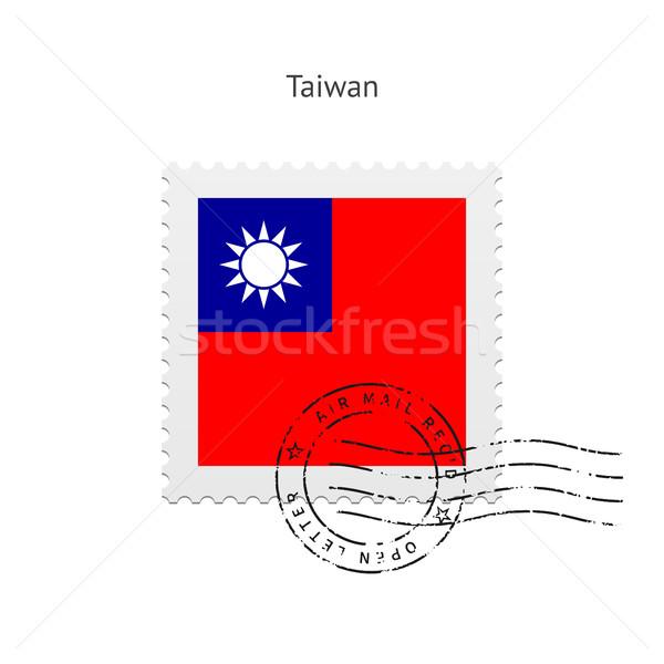 Tayvan bayrak beyaz imzalamak mektup Stok fotoğraf © tkacchuk