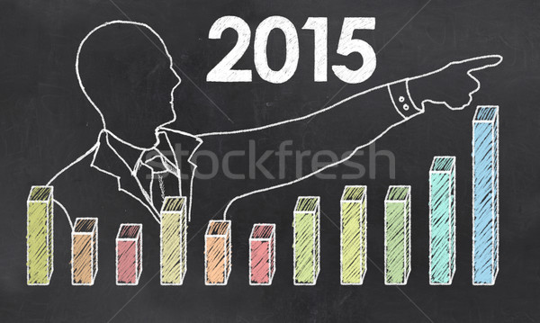 Growth in 2014 with Creative Businessman Stock photo © TLFurrer