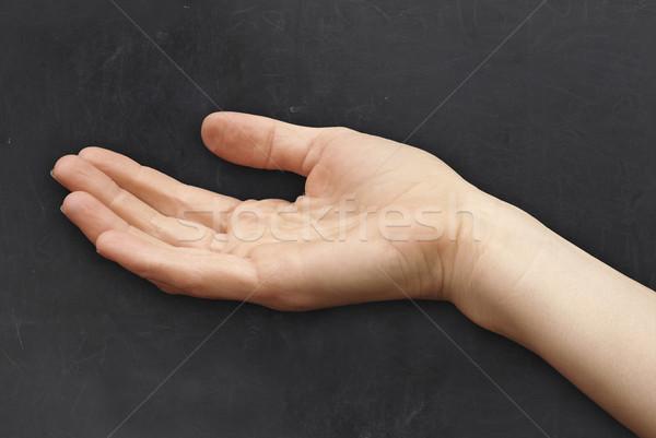 手 黒板 背景 にログイン 皮膚 ストックフォト © TLFurrer