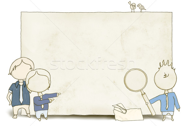 SEO Staff with Blank Paper Stock photo © TLFurrer