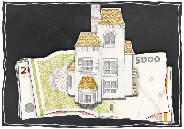 家 お金 紙 黒板 ビジネス ストックフォト © TLFurrer