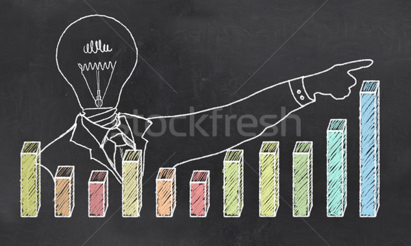 роста Creative бизнесмен положительный графа Сток-фото © TLFurrer