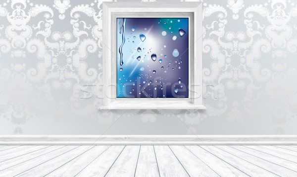 Climate Friendly Window in Bright Interior Stock photo © TLFurrer