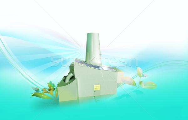 工場 ソーラーパネル 日光 太陽 光 スペース ストックフォト © TLFurrer