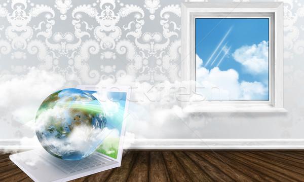 ワイヤレス 作業 エネルギー ホーム インターネット ウィンドウ ストックフォト © TLFurrer