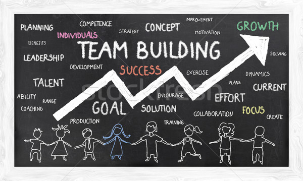 Stock photo: Growth with Team Building