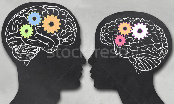 Man and Woman with Working Brain Stock photo © TLFurrer