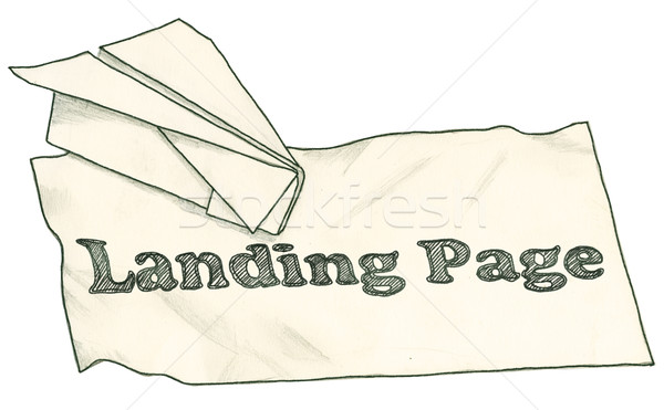 Landing Page with Clipping Path Stock photo © TLFurrer