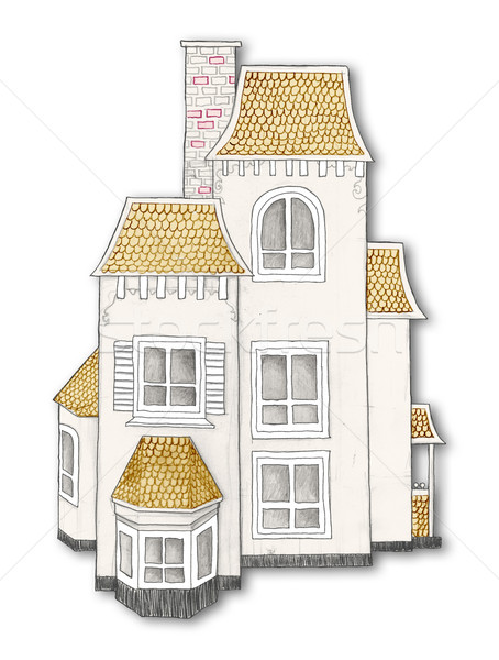Hand Drawn House with Clipping Path Stock photo © TLFurrer