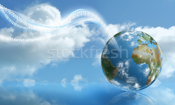Digital Touchdown with Cloud Computing Stock photo © TLFurrer