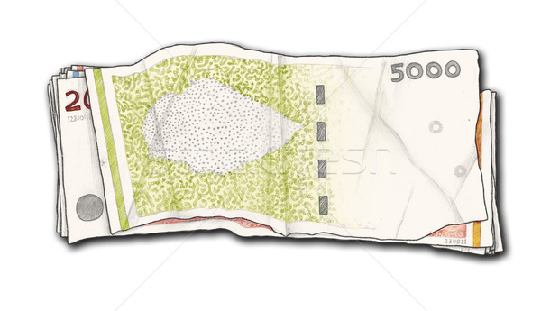 Hand Drawn and Isolated Money Stock photo © TLFurrer