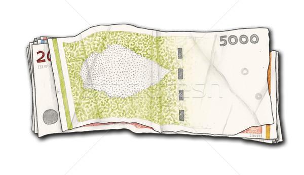 手描き 孤立した お金 白 グループ 金融 ストックフォト © TLFurrer