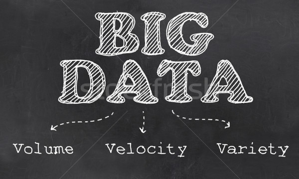 Big Data the Three - Volume, Velocity and Variety Stock photo © TLFurrer