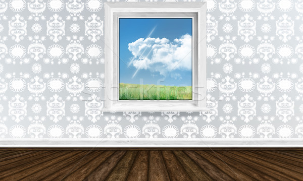 ウィンドウ 明るい インテリア 表示 春 空 ストックフォト © TLFurrer