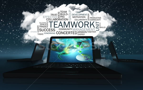 Word Cloud with Teamwork Stock photo © TLFurrer