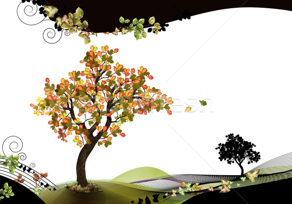 природы лист осень волна осень Сток-фото © TLFurrer