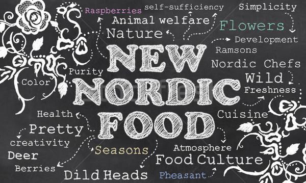 новых продовольствие культура мелом доске Сток-фото © TLFurrer