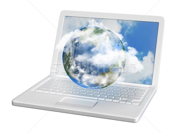 雲 コンピュータ 世界 母親 地球 と ストックフォト © TLFurrer