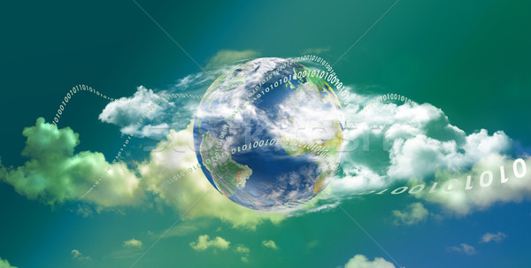 Cloud Computing technology panoramic Stock photo © TLFurrer