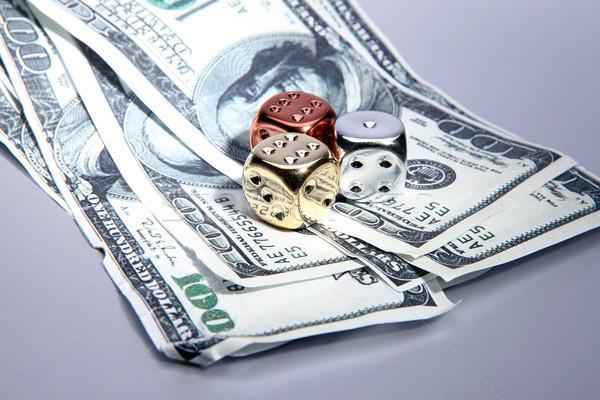 dice dollars money risk Stock photo © tlorna