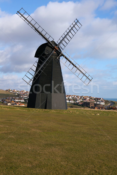 Moulin à vent vieux moulin ville Angleterre sussex Photo stock © tlorna