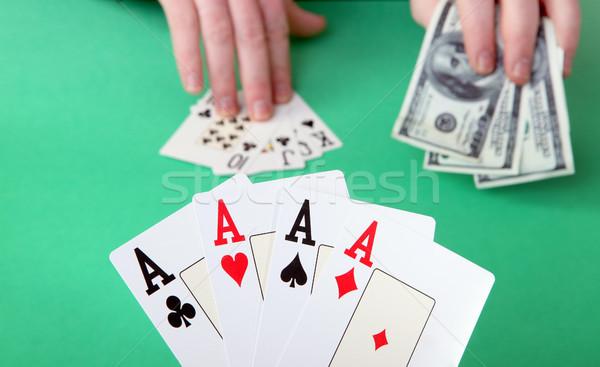Jeux gagner perdre jeu cartes poker Photo stock © tlorna