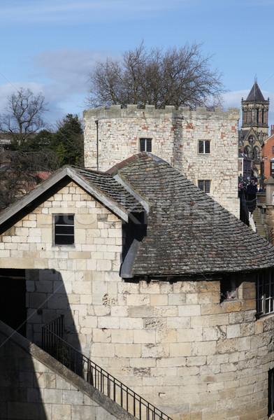 Ville murs médiévale historique bâtiment tour Photo stock © tlorna