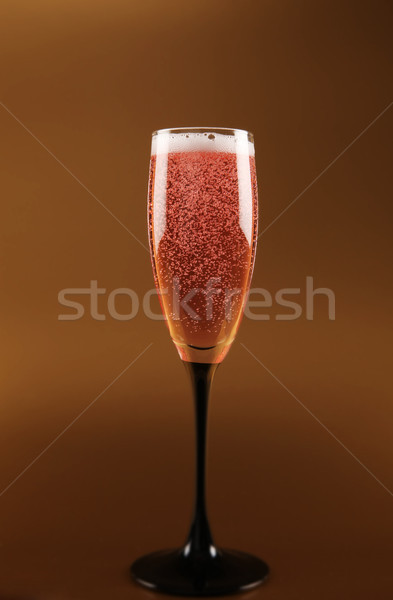 champagne pink fizz celebration Stock photo © tlorna