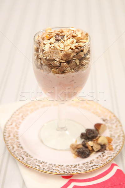 Photo stock: Déjeuner · yaourt · muesli · alimentation · saine · saine · repas