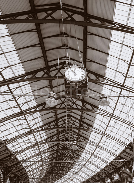 Architecture toit plafond gare détail Angleterre Photo stock © tlorna