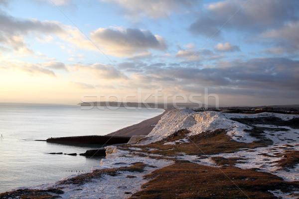 Craie falaise colline sept soeurs Photo stock © tlorna