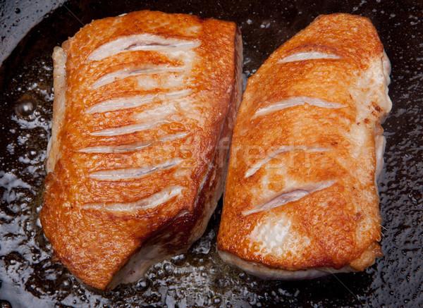 Canard cuisson sein poêle brun viande Photo stock © tlorna