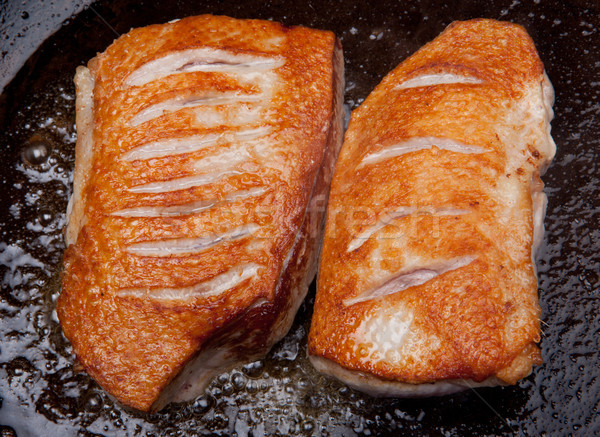 Photo stock: Canard · cuisson · sein · poêle · brun · viande