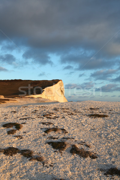 chalk cliffs brighton sussex  landscape sunset Stock photo © tlorna