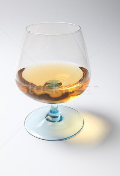 Brandy cognac liqueur verre ambre jaune Photo stock © tlorna
