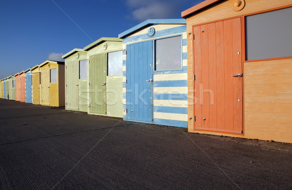 Plage anglais sussex Angleterre coloré Photo stock © tlorna