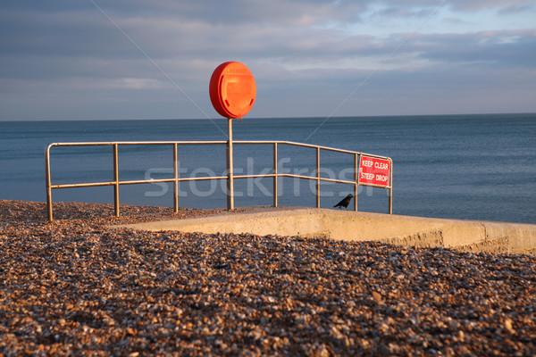 Plage avertissement Angleterre sécurité Photo stock © tlorna
