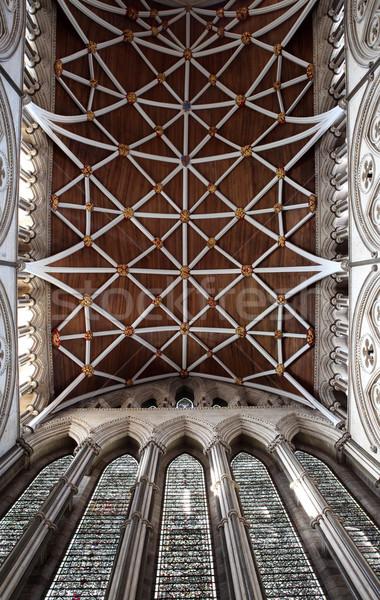 Photo stock: Angleterre · intérieur · plafond · bâtiment · église