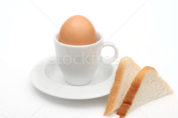 Oeuf Toast déjeuner saine casse-croûte repas Photo stock © tlorna