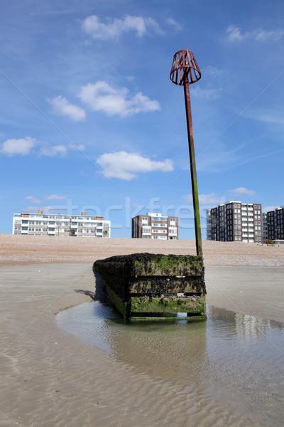 Photo stock: Sussex · maisons · eau · vue · faible