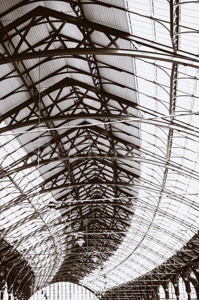 Architecture toit plafond gare détail Angleterre Photo stock © tlorna
