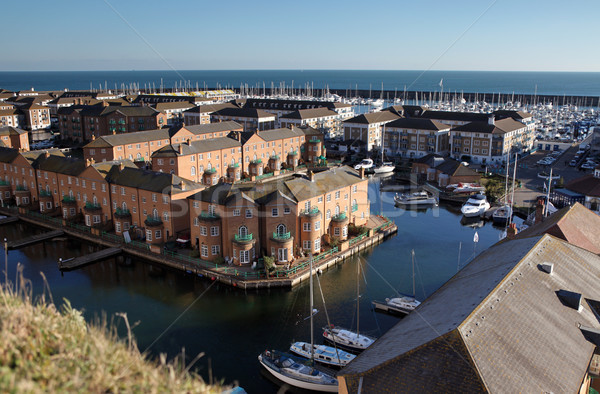 Marina Angleterre port sussex maisons Photo stock © tlorna