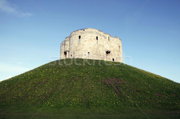 Château tour ville anciens médiévale historique Photo stock © tlorna
