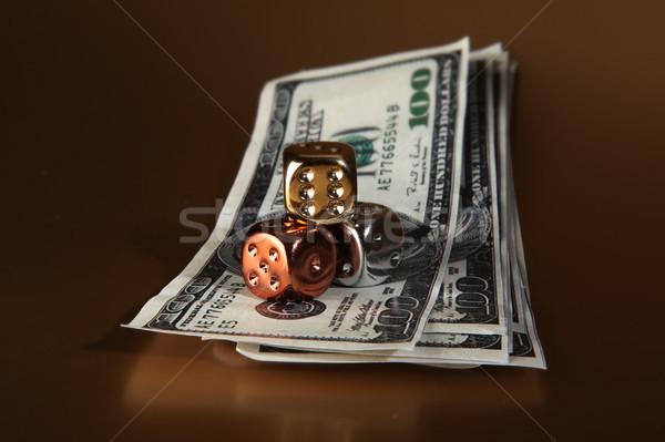 Dés dollars argent risque jeux jeu Photo stock © tlorna
